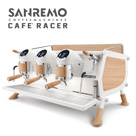 SANREMO CAFE RACER WHITE & WOOD SLIM 三孔營業用咖啡機 ( 窄版 )  220V